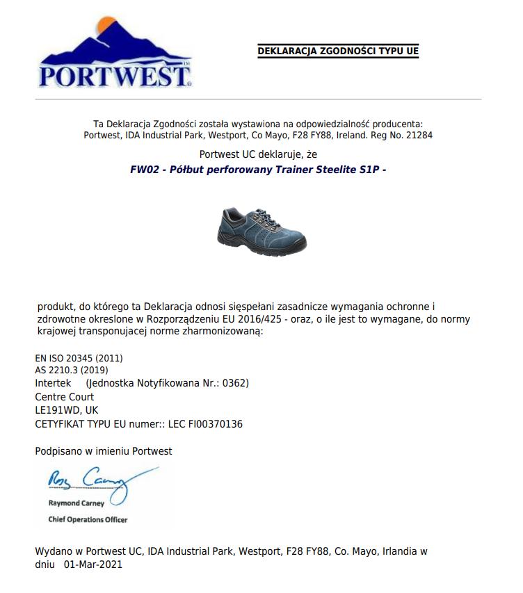 Polbut Trainer Steelite S1p Fw02 Portwest 11055 Gabi Centrum Bhp